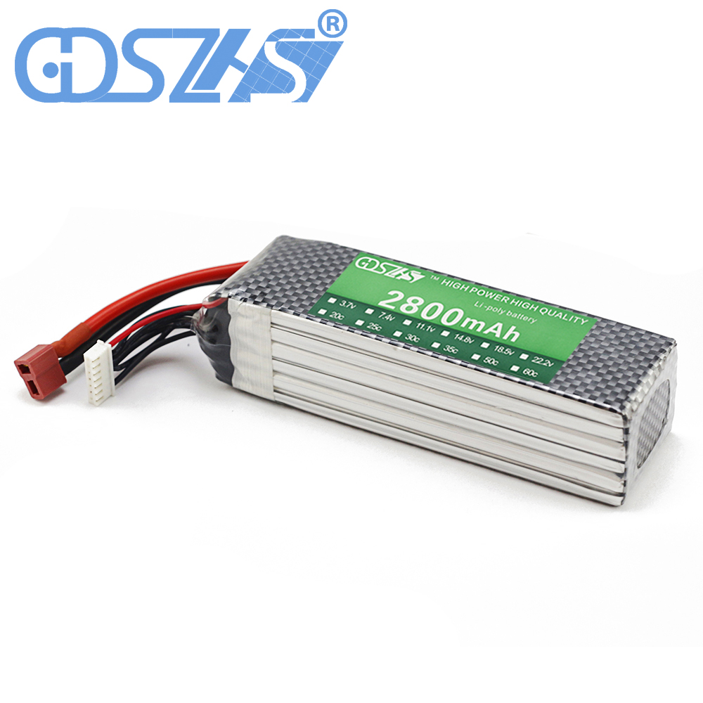 GDSZHS New Rechargeable 6S Lipo Battery 22.2V 2800mAh 30C For FPV RC Helicopter Car Boat Drone Quadcopter hrb rc lipo battery 14 8v 2600mah 35c 70c for rc helicopters quadcopter car fpv racing league