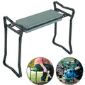Folding Stainless Steel Garden Kneeler Stool EVA Cushion Seat Gardening Portable Tool