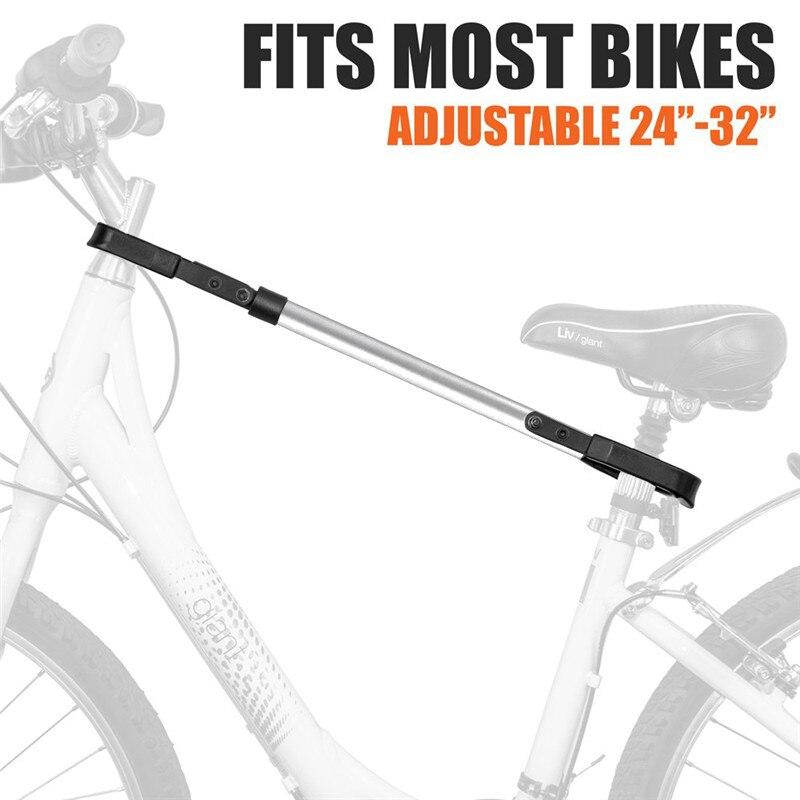 Support réglable de barre transversale de bicyclette d'adaptateur de support de bicyclette d'acier inoxydable de bicyclette des enfants de dames