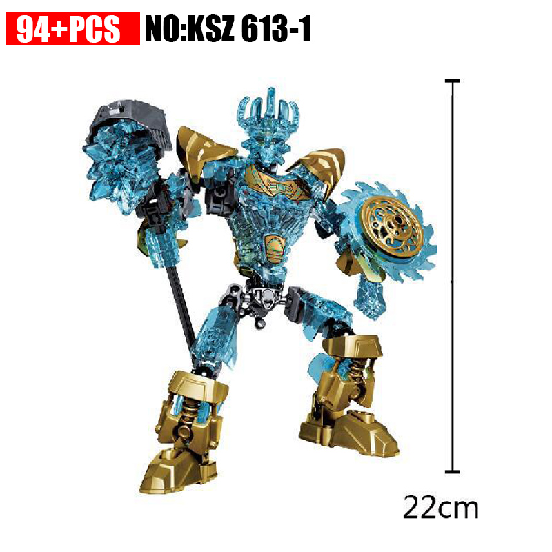 2018 New Style KSZ 613-1 Biochemical Warrior Bionicle Ekimu the Mask Maker Building Block Toys Compatible 71312
