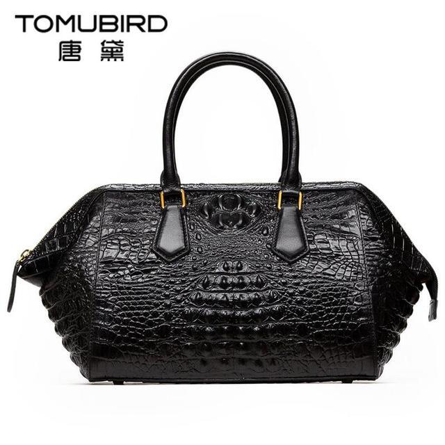 2017 New luxury handbags women bags designer alligator grain quality genuine leather women handbags shoulder bag