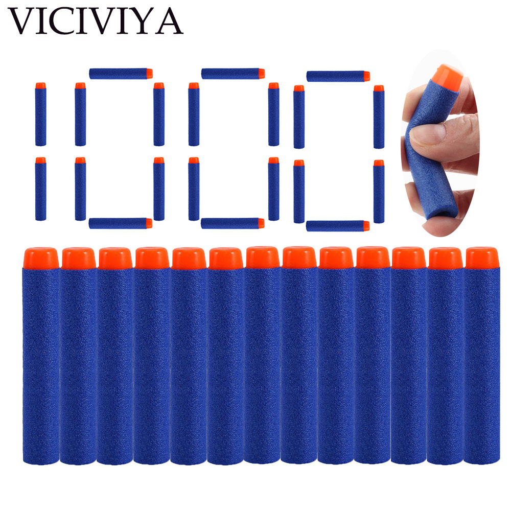 1000pcs Refill Darts For Nerf Bullets Soft Hollow Hole Head 7.2cm Refill Darts Toy Gun Bullets Blasters Kids Guns Accessories