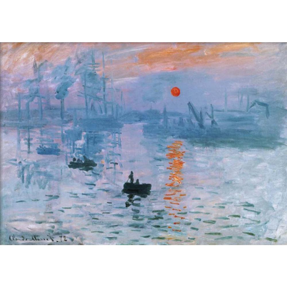 classic oil painting on canvas impression soleil levant claude monet handmade art wall home decor