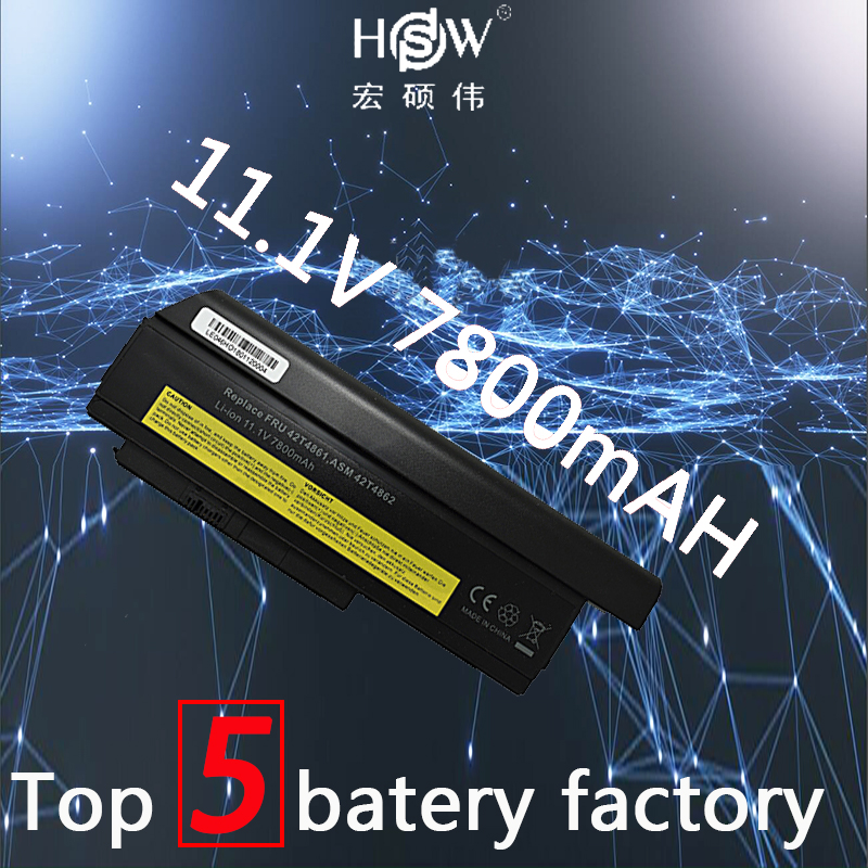 A HSW 7800 mah da bateria do portátil para lenovo ThinkPad X220s X220i X220 42T4873 42T4875 42T4876 42T4901 42Y4864 42T4861 42T4862 42T4863