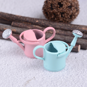 Image 5 - New Arrival 1/12 Metal Watering Can Garden Miniature Decoration For Children Kids Dolls Acces Dollhouse Miniature Furniture