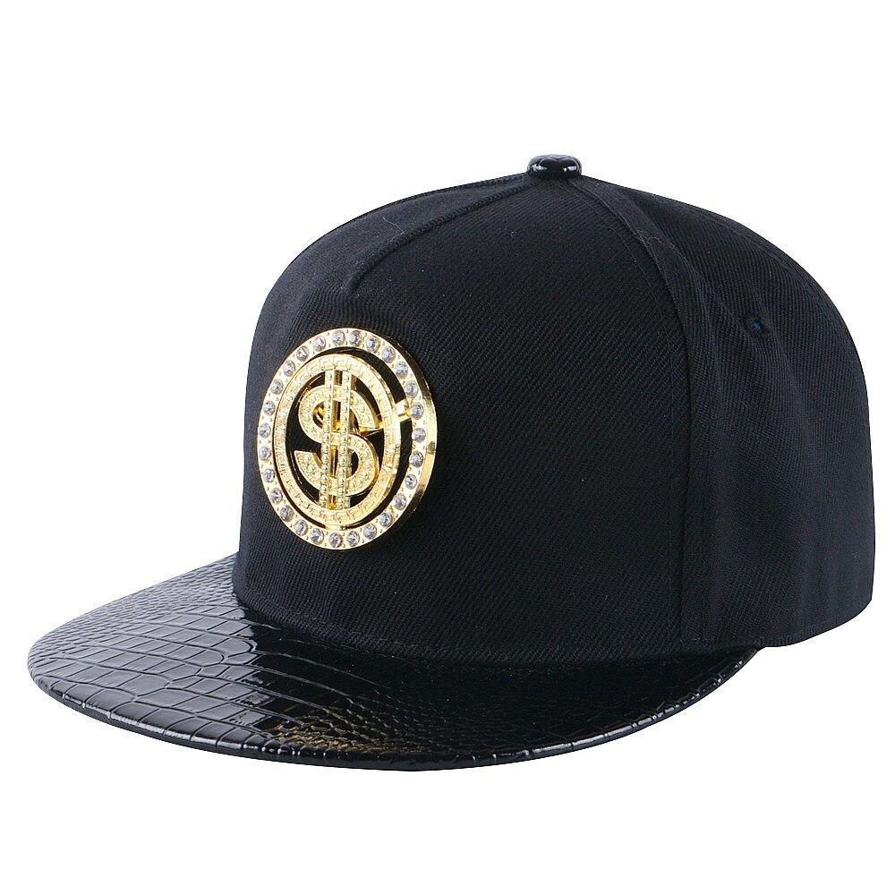 Prix pour En gros femmes hommes marque snapback cap design personnalisé logo en métal de luxe hanche hop casquette de baseball garçon fille sport casquette chapeau gorras