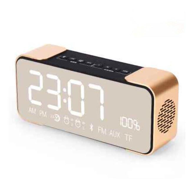 4.2 Mini Bluetooth fonction Audio haut-parleurs cartes MP3 miroir affichage réveil Radio FM sans fil gratuit réveil