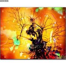 5D Diy Diamond Painting Cross Stitch Sunset Glow & Branch Needlework Embroidery Full Round Mosaic Decoration Resin Kits
