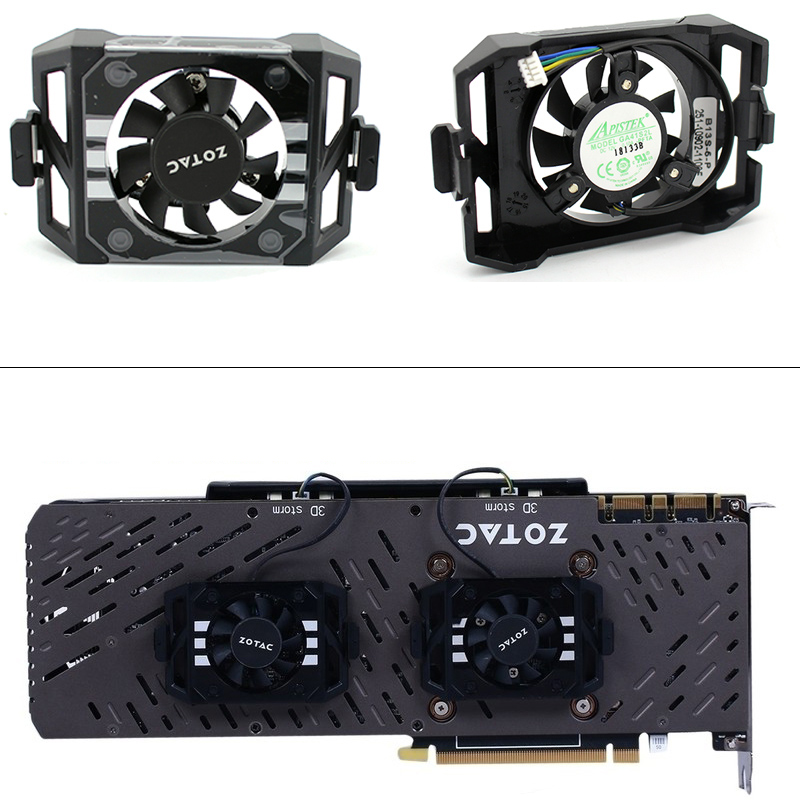 New Original GA41S2L DC12V for ZOTAC GTX1060 1070TI 1080 TI PLUS OC Graphics card cooling fan Video card backplane fan-in Laptop Cooling Pads from Computer & Office