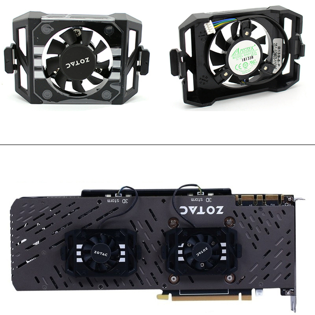 New Original GA41S2L DC12V for ZOTAC GTX1060 1070TI 1080 TI PLUS OC Graphics card cooling fan Video card backplane fan