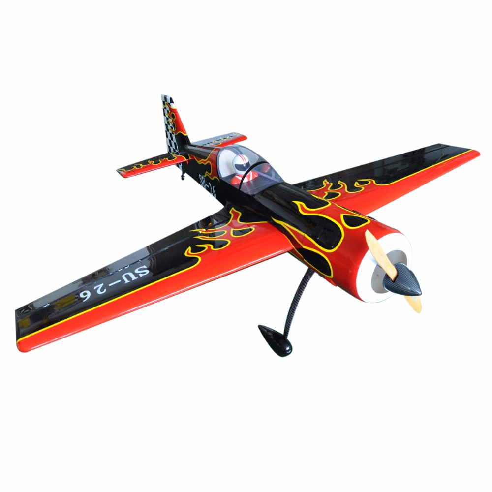 RC Airplane 88.9 SU-26 50cc Gasoline Scale Plane Blasa Wood Kit Oracover Flight Model image