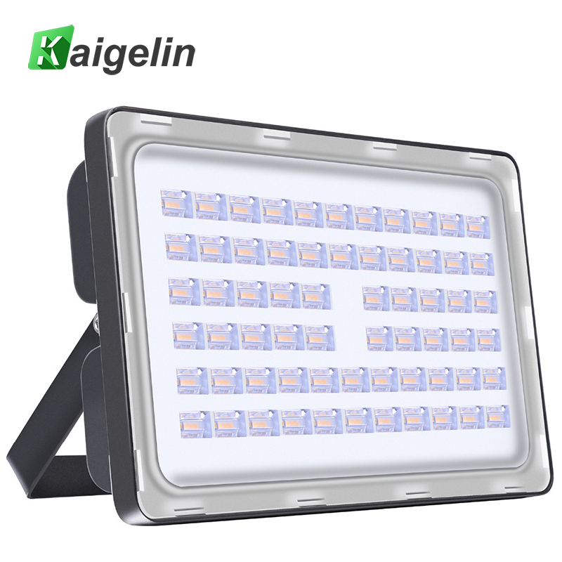 Kaigelin 200W LED-es árvízfény AC 110V 220V 24000LM vízálló LED-es fényszórók Reflektor LED-es spotlámpa kültéri LED utcai lámpa