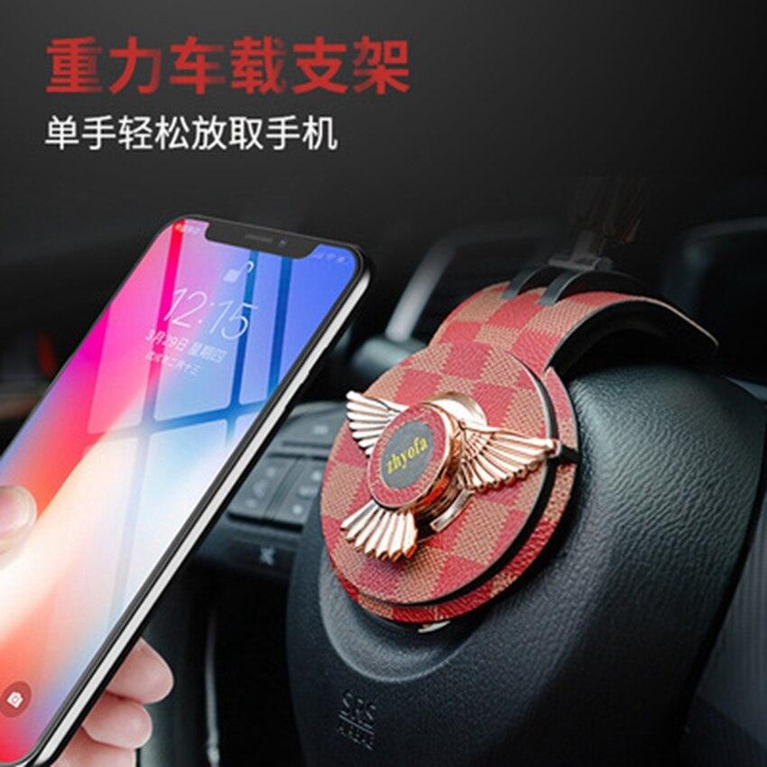 New creative car steering wheel car phone holder Gravity gyroscope car phone holder mobile phone positioning