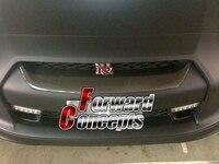 FOR 08 11 REAL CARBON FIBER GTR R35 JDM FRONT BUMPER GRILL GRILLE