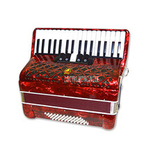 Professional Acoustic Accordion Wood Structure 34-Key 60 Bass Button Accordion Beginner Musical Instrument Equipment YW-823