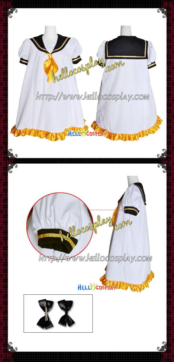 Vocaloid 2 Cosplay Sailor Version Rin Kagamine Dress H008