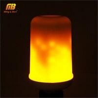 Dynamic Flame Effect LED Corn Light Bulb Lamp 110V 220V E27 Simulation Fire Burning Flicker Replace