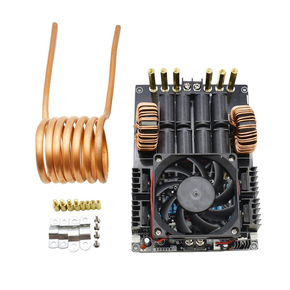 Copper tube1KW ZVS Induction Heating Machine Module Low Voltage High Frequency DC12V-40V With Copper TubeCopper tube1KW ZVS Induction Heating Machine Module Low Voltage High Frequency DC12V-40V With Copper Tube