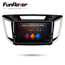 FUNROVER 2 din android 8.0 car dvd gps player stereo For Hyundai IX25 ix25 CRETA navigation audio radio tape recorder BT WIFI FM