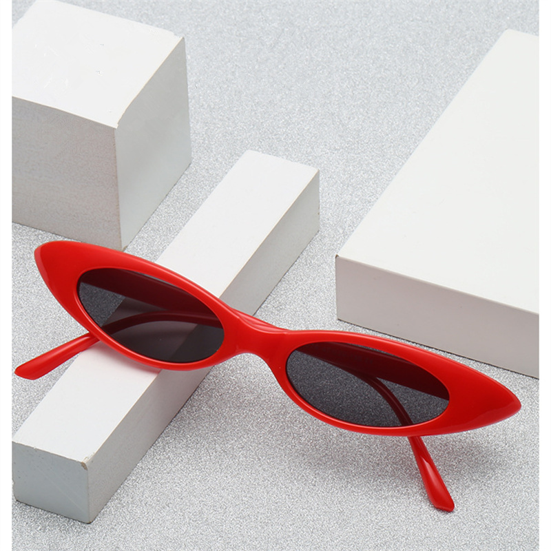 KUJUNY Women Small Sun Glasses New Brand Designer Female Retro Cateyes Eyewears Oval Frame Eyeglasses UV400 Sunglasses