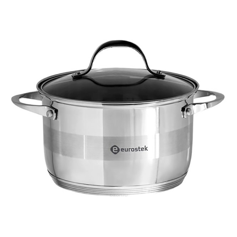 Фото - Saucepan with lid Eurostek ES-1002 (Volume 4 liter, diameter 22 cm, пятислойное bottom, suitable for all types of plates) saucepan with lid eurostek es 1007 volume 4 5 liter diameter 22 cm пятислойное bottom suitable for all types of plates