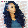 Malaysian Loose Wave 360 Lace Wigs For Black Women 180% Density Malaysian Virgin Hair Full Lace Human Hair Wigs With Baby Hair