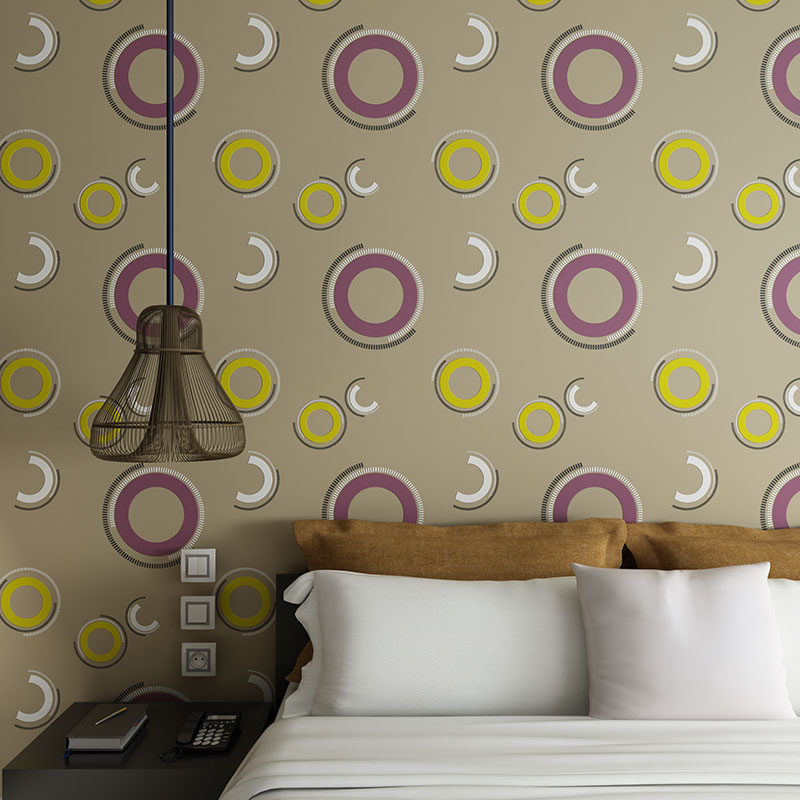behang Modern Wallpaper for Walls 3D Circle Non-woven Wall Paper Roll Bedroom Living Room Background Wall Mural papel de parede beibehang roll papel mural modern luxury pattern 3d wall paper roll mural wallpaper for living room non woven papel de parede