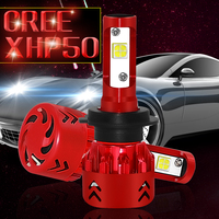 Muxall H4 Car LED bulbs 80W 9600LM For XHP50 Chips Auto LED Headlight Lamps 9005 9006 H1 H7 H11 Automobile Fog Front Light