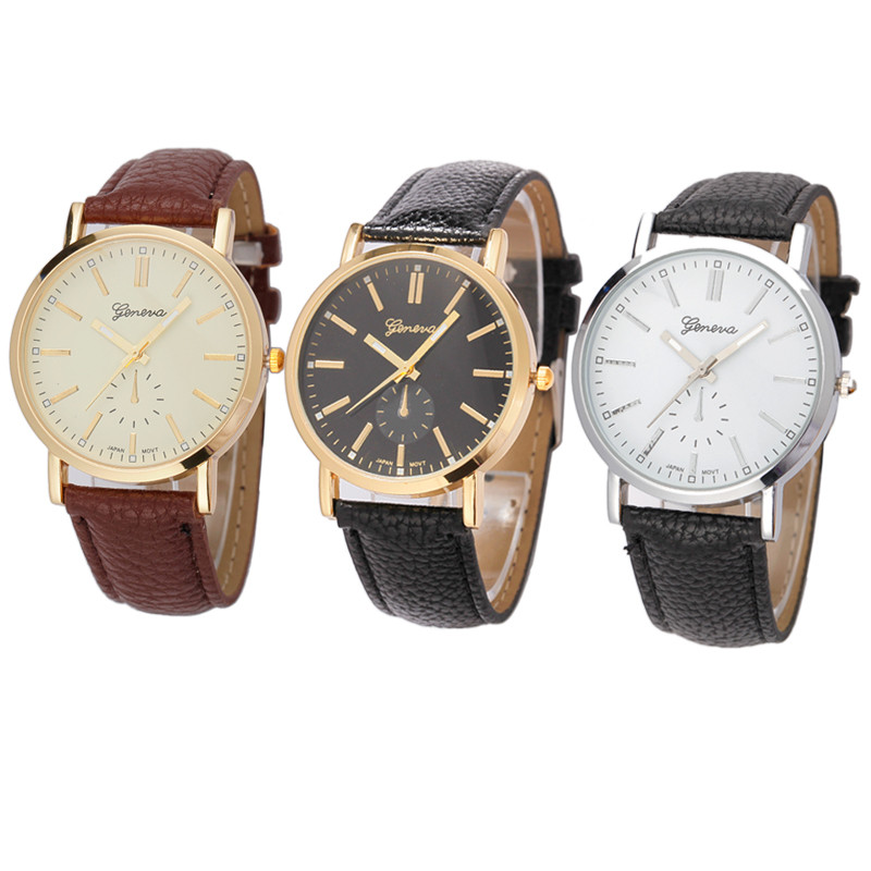 2020 Hot Sale Male Watch PU Leather Alloy Man Watch Fashion Stainless Steel Unisex Band Analog Quartz Business Wrist Watch