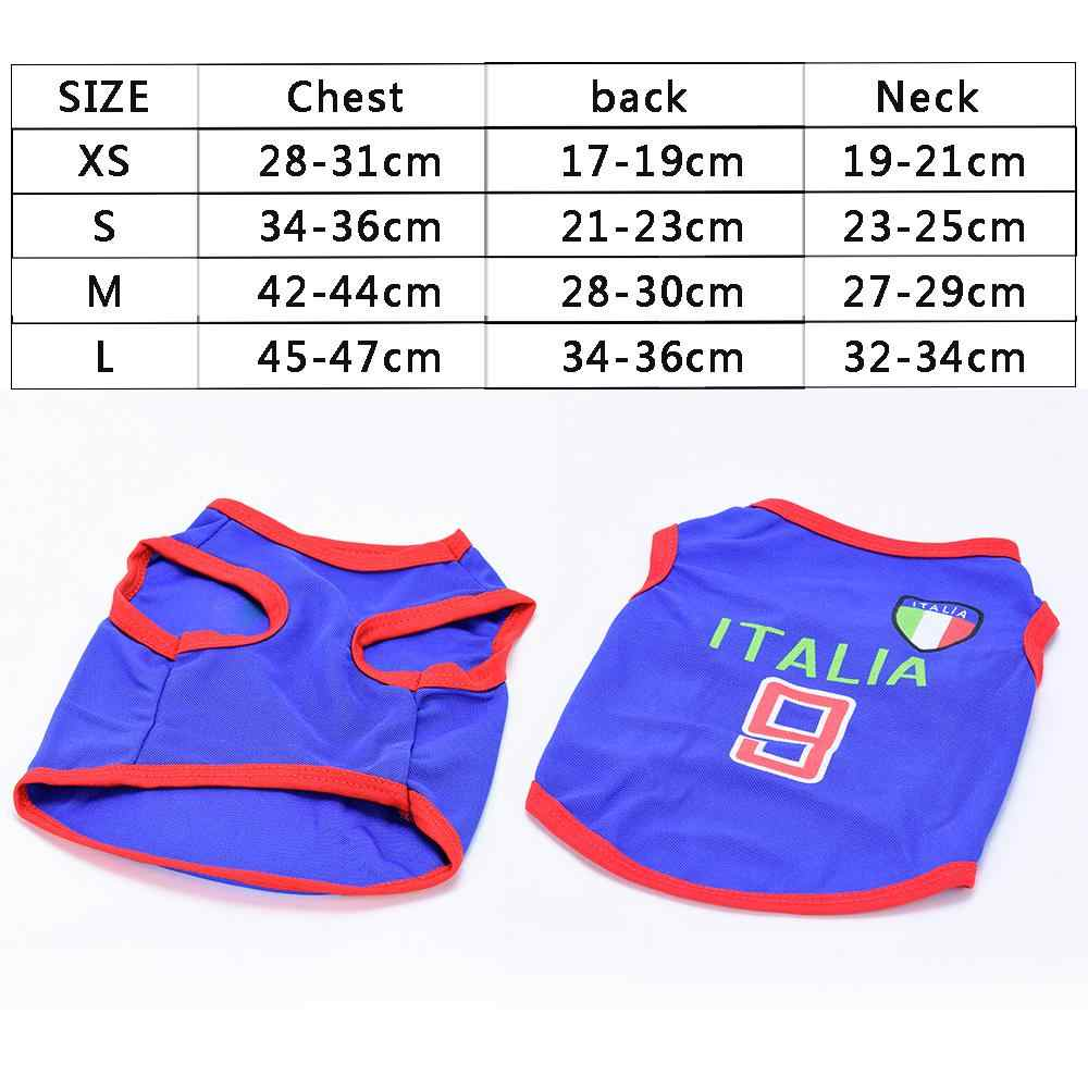 71b63bdfb ... Dog Vest Cotton Striped Summer Soccer Rugby Football Dog Clothes Sport  Jersey Chihuahua Pet Tshirt Yorkie