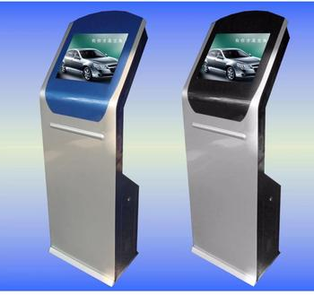 19 inch floor standing landscape display touch screen information