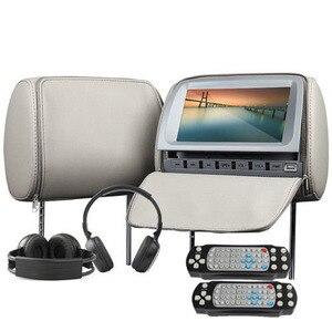 Image 2 - 2 قطعة 9 بوصة DVD مسند الرأس سيارة شاشات 800*480 سستة غطاء TFT LCD شاشة MP5 لاعب دعم IR /FM/USB/SD/المتكلم/لعبة سيارة التلفزيون