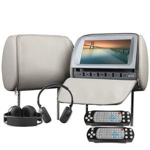 Image 2 - 2 pcs 9 인치 dvd headrest 자동차 모니터 800*480 지퍼 커버 tft lcd 화면 mp5 플레이어 지원 ir/fm/usb/sd/스피커/게임 자동차 tv