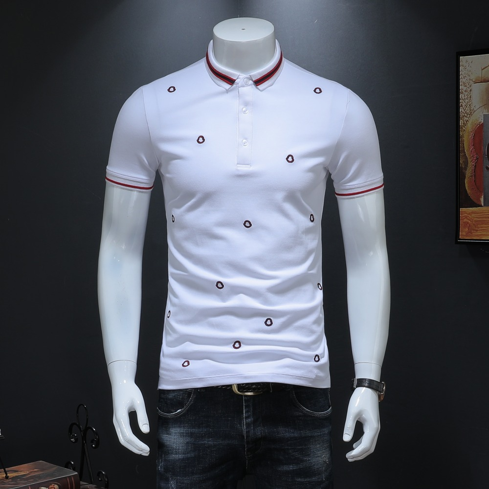 Preppy Style Polos Shirt For Men 2019 Summer New Arrivals Classic Embroidery Pattern Solid Short Sleeve US Polo Shirt 19928