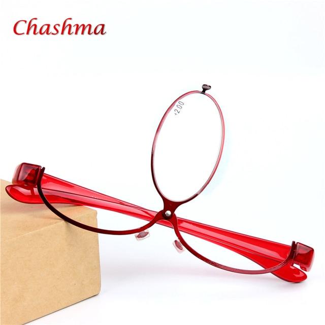 Designer de Maquiagem Óculos de Leitura Folding Magro Moda Óculos Oculos de  grau óculos de Maquiagem 8dd3c650b5