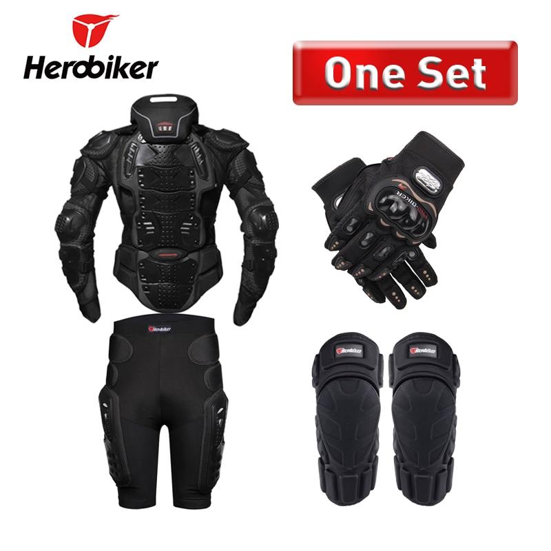 Herobiker мотоцикл броня защиты всего тела защитный Шестерни Мотокросс байкерская куртка Мото-куртки с шеи защитника
