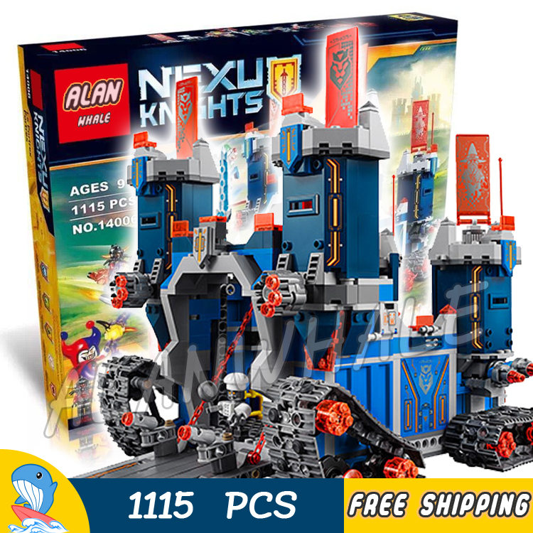 1115pcs 14006 New Knights The Fortrex Model Building Blocks Children Toys Bricks Hot Sale Nexus Compatible With Lego hot sale the hobbit lord of the rings mordor orc uruk hai aragorn rohan mirkwood elf building blocks bricks children gift toys