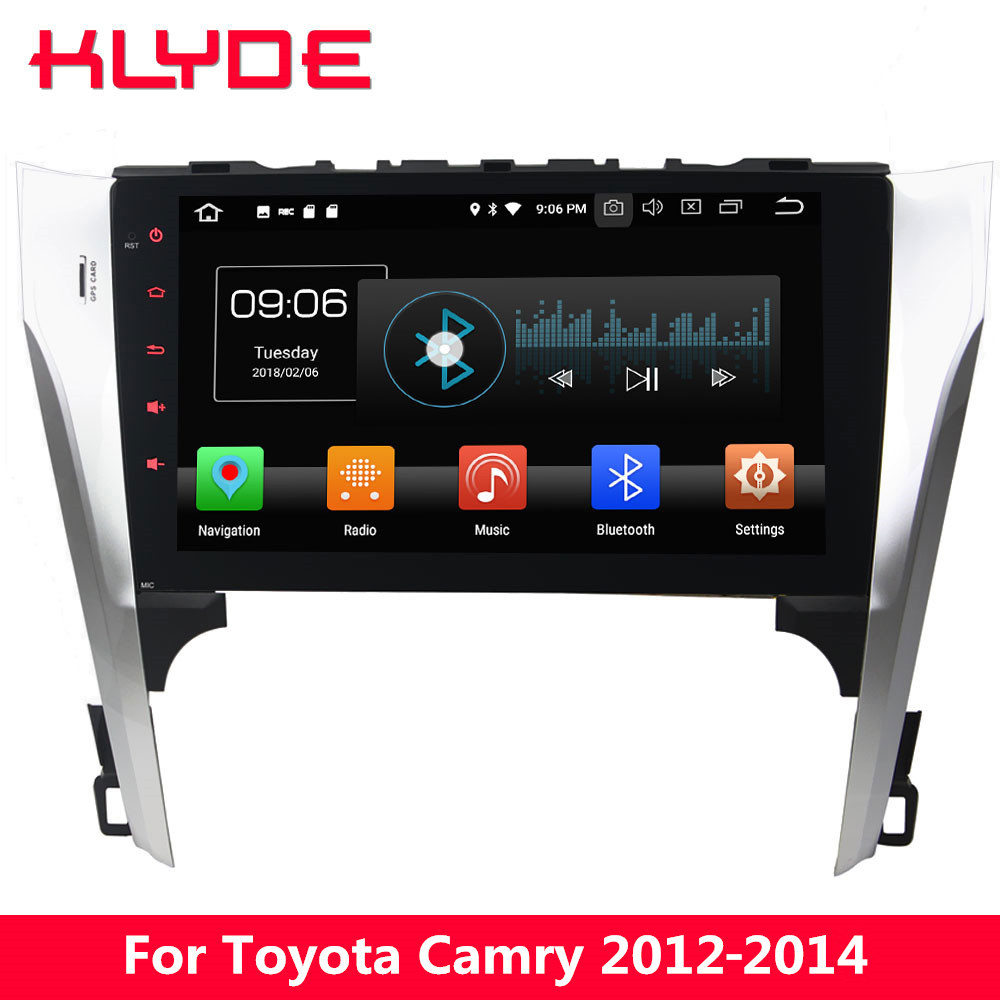 KLYDE 10,1 ips 4 г Android 8,0 Octa Core 4 ГБ Оперативная память 32 ГБ Встроенная память DVD мультимедиа плеер стерео радио для Toyota Camry 55 2012-2014