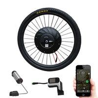 Комплект колес 36 в 240 Вт Мотор колеса E велосипед конверсионный комплект с 2 батареями приложение Imortor двигатель комплект ступицы мотор Набор
