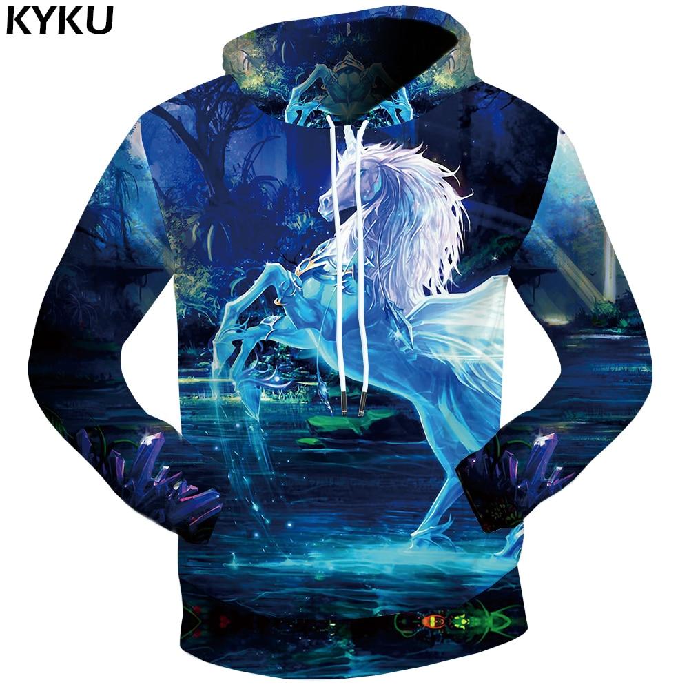 KYKU Brand Unicorn Hoodie Dream Sweat Shirt Crystal Clothing Water Clothes Jungle Sweatshirts Male 3d Hoodies Men 2018 New