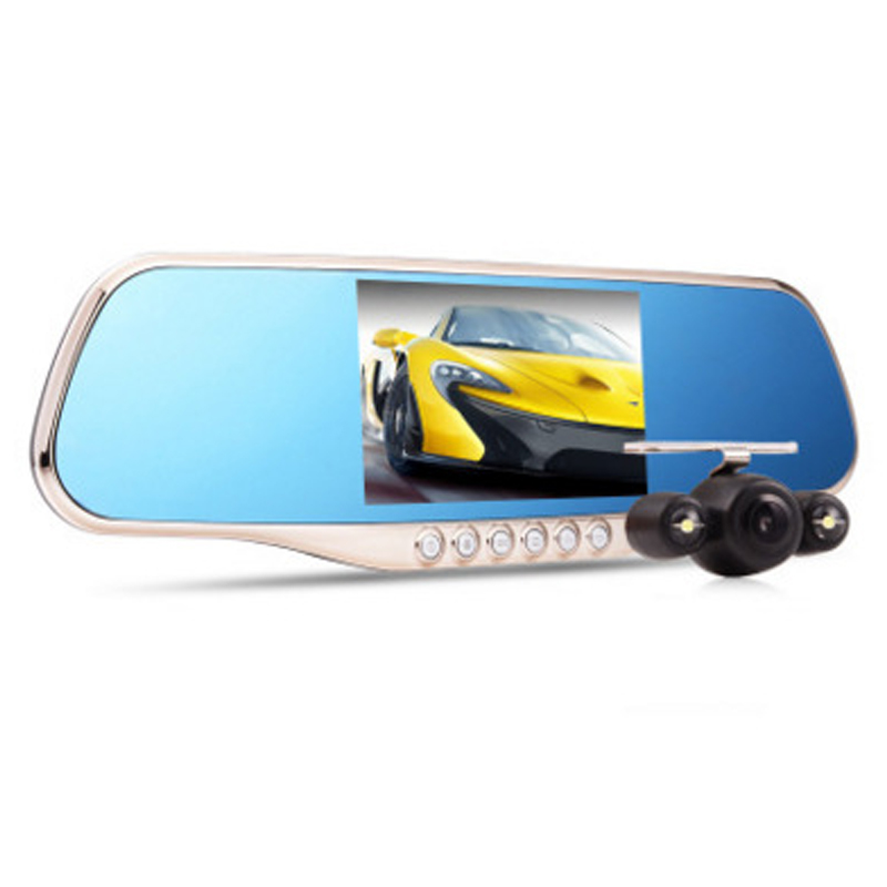 Car 1080P Dash Cam Camcorder Driving Vedio Recorder HD night vision rearview mirror car one machine 170 degrees wide angle