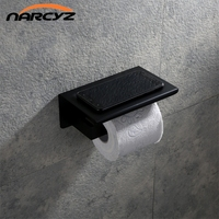 New Style Model Paper Holders Stainless Steel Chrome/Black Toilet Roll Holder Phone Stand Wall Bathroom Accessories 9059K