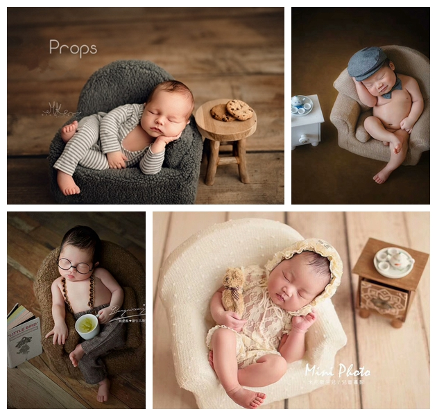 baby sofa chair newborn photography prop small sofa chair shooting  posing  Studio Infantile  Photoshoot creative Accessories chair