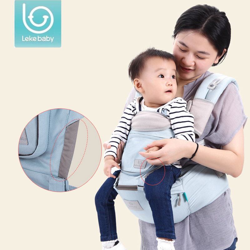 Lekebaby new hipseat baby carrier kangaroo kids sling for newborn and prevent o-type legs 3 in 1 carry style loading Ergonomic