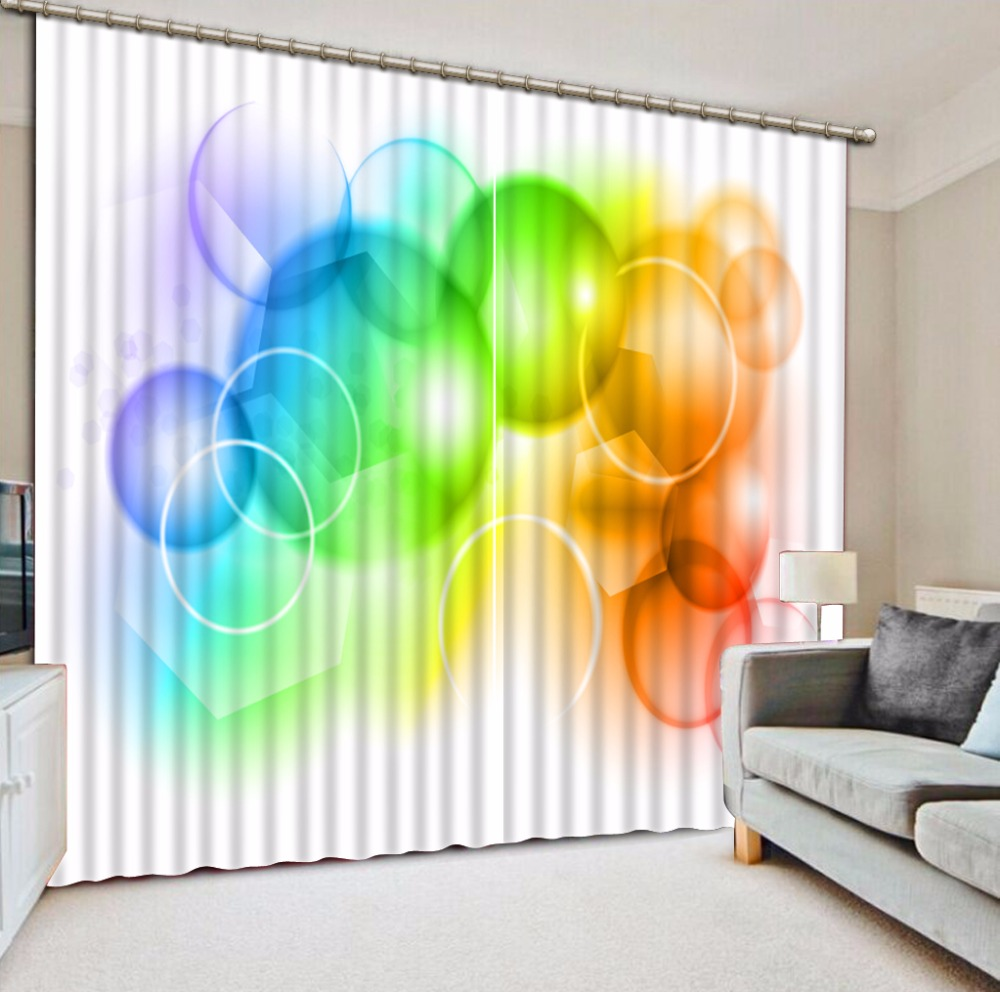Colorful Curtains Photo Circle Kids Room Curtains Drapes Modern Living Room Bedroom Curtains Decoration Custom any size Colorful Curtains Photo Circle Kids Room Curtains Drapes Modern Living Room Bedroom Curtains Decoration Custom any size
