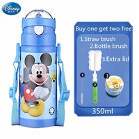 Child Feeding Cup Thermos Bottle Cartoon Baby Cup Micky Minnie Water Drinking Bottle Thermos Flask Portable