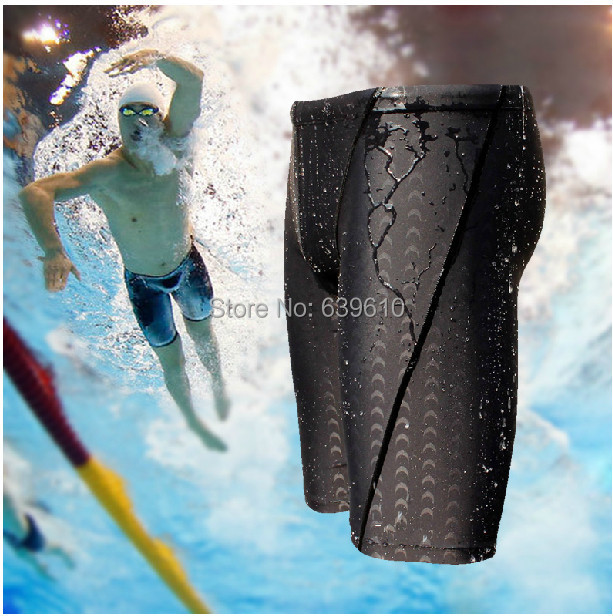 Men Shorts Sharkskin Swimming Trunks Shorts Swim Briefs Fastskin Racing Jammers Training Shorts natacion calzoncillos