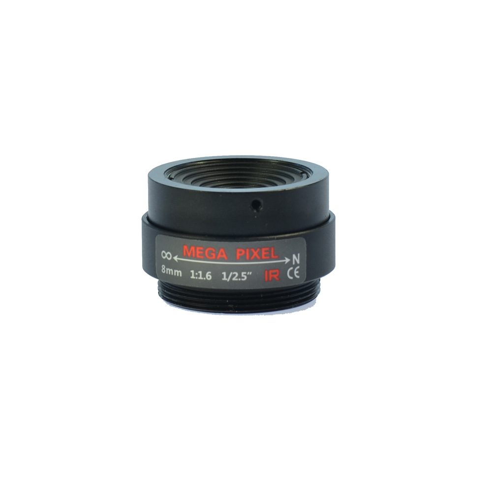 Manual IRIS Zoom Focus 8mm CCTV Lens F1.6 1/2.5 3 Mega Pixel CS Mount Fixed Lens for CCTV Camera 8mm 12mm 16mm cctv ir cs metal lens for cctv video cameras support cs mount 1 3 format f1 2 fixed iris manual focus