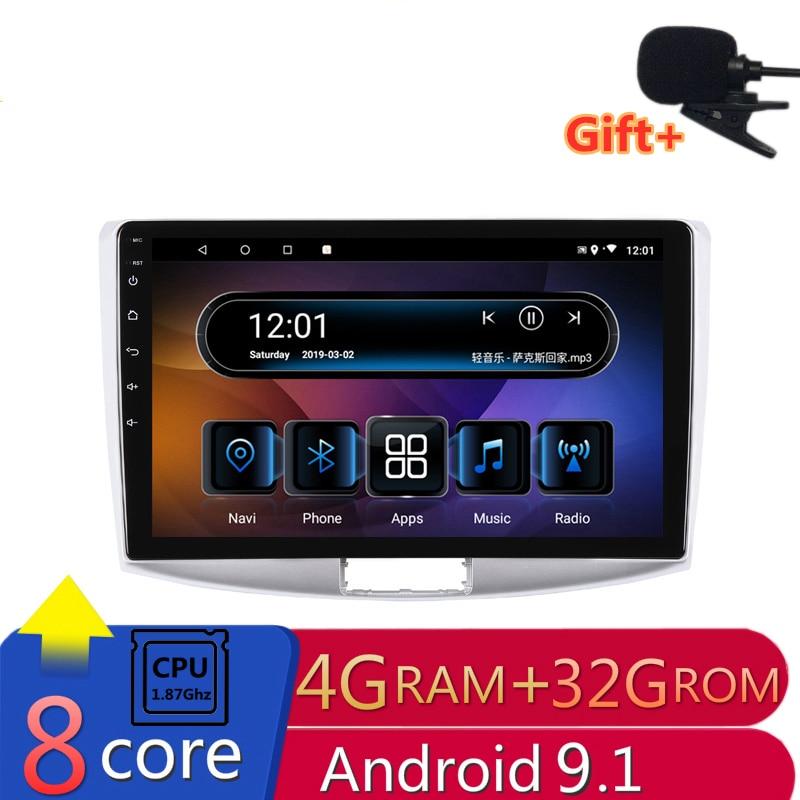 "10"" 4G RAM 2.5D IPS 8core Android 9.1 Car DVD Multimedia Player GPS for Volkswagen VW Passat B6 B7 CC 2007-2015 radio navigation"