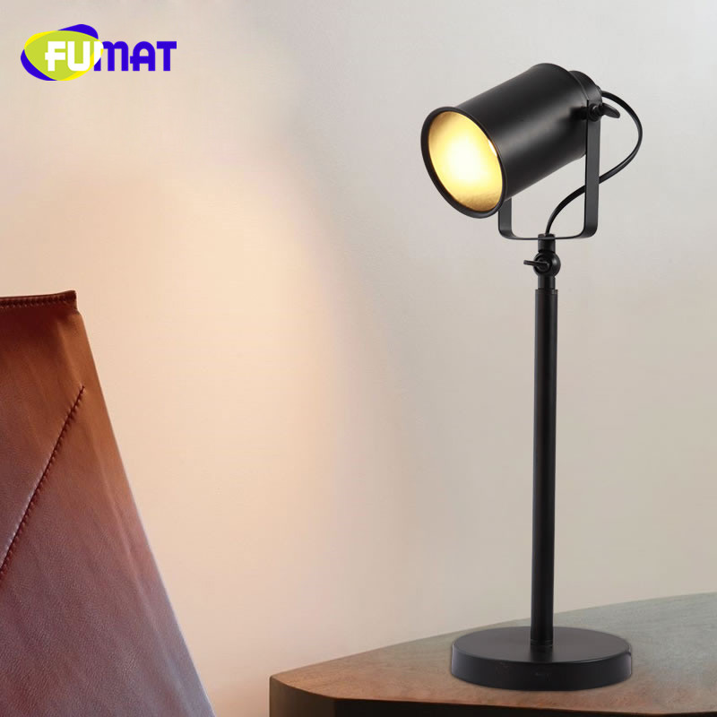 E27 LED Vintage Rotatable Table Lamp For Bedroom Living Room Metal Table Light Study Bedside Decoration Black Iron Desk Light wooden table lamp 280 280 400mm e27 wood cloth white desk light for study room bedroom home decoration living room wtl014